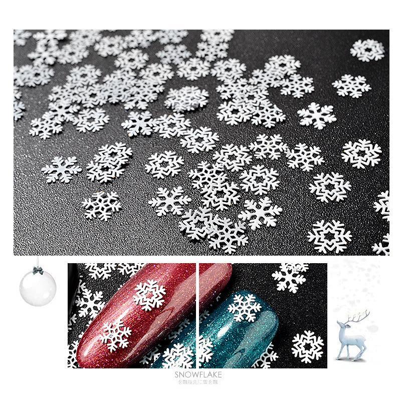 Decalques de unhas de floco de neve Multi Projetos Unhas Arte Adesivos Decorações de Natal Lantejoulas Ultratina Personalidade Mulher Suprimentos Fashion 2 8mz K2