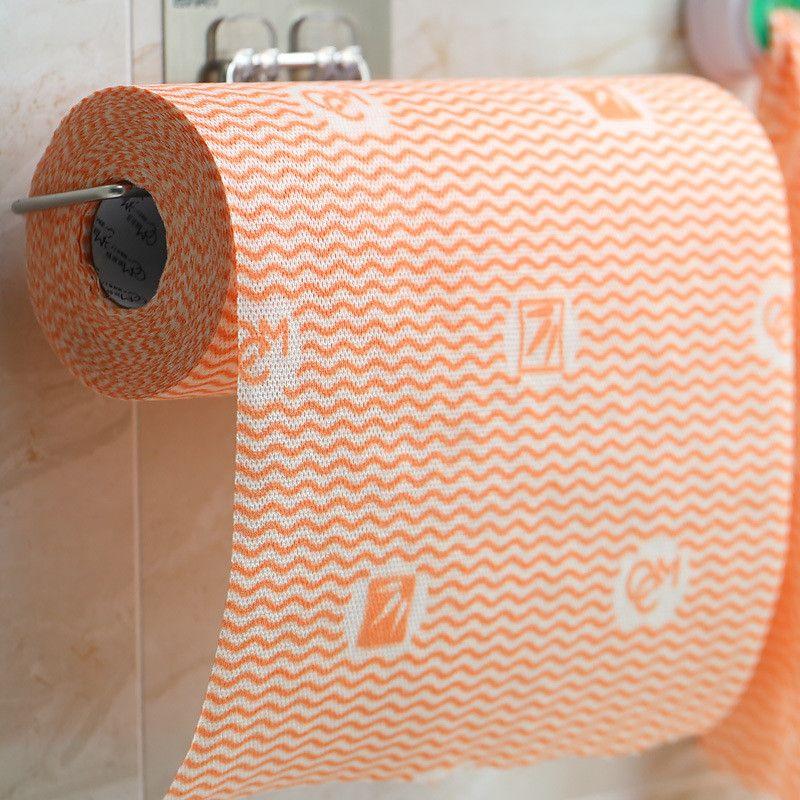 55 folhas / rolo toalha de cozinha descartável e eco-friendly não tecido 24 cm * 30cm cozinha molhamento e seco panos de limpeza yyb3883