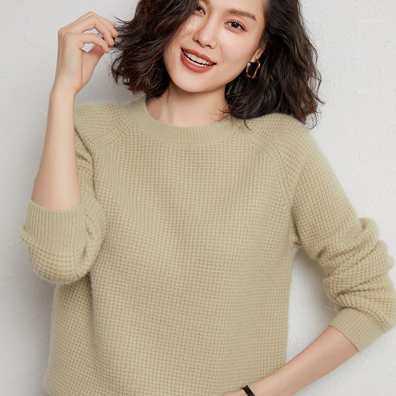 Briarst 100% reine Wolle Pullover Frauen Rundhalsausschnitt Lose Kaschmir Pullover Herbst und Winter Neue dicke gestrickte Botting Hemd1