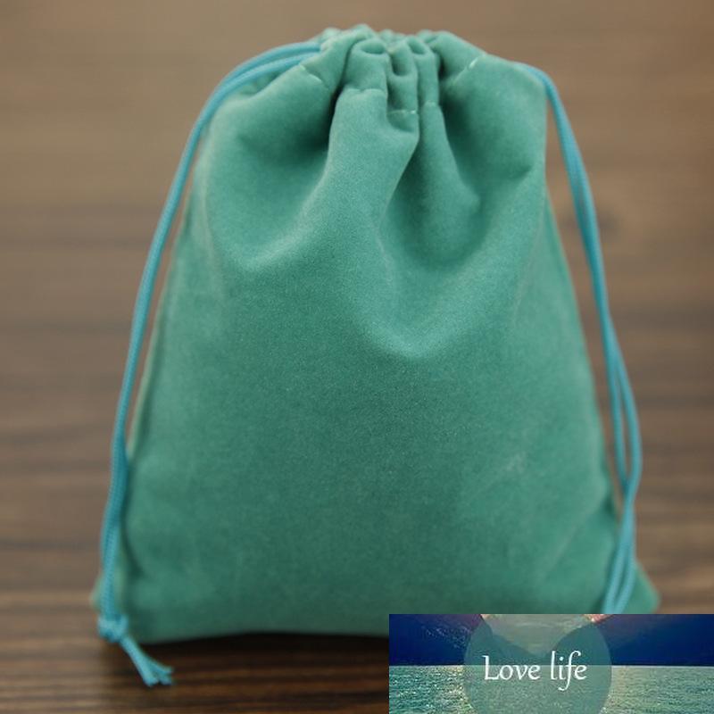 50pcs / sac bijoux emballage sac en velours 6 * 7cm, sacs de velours cordonnet Pouches