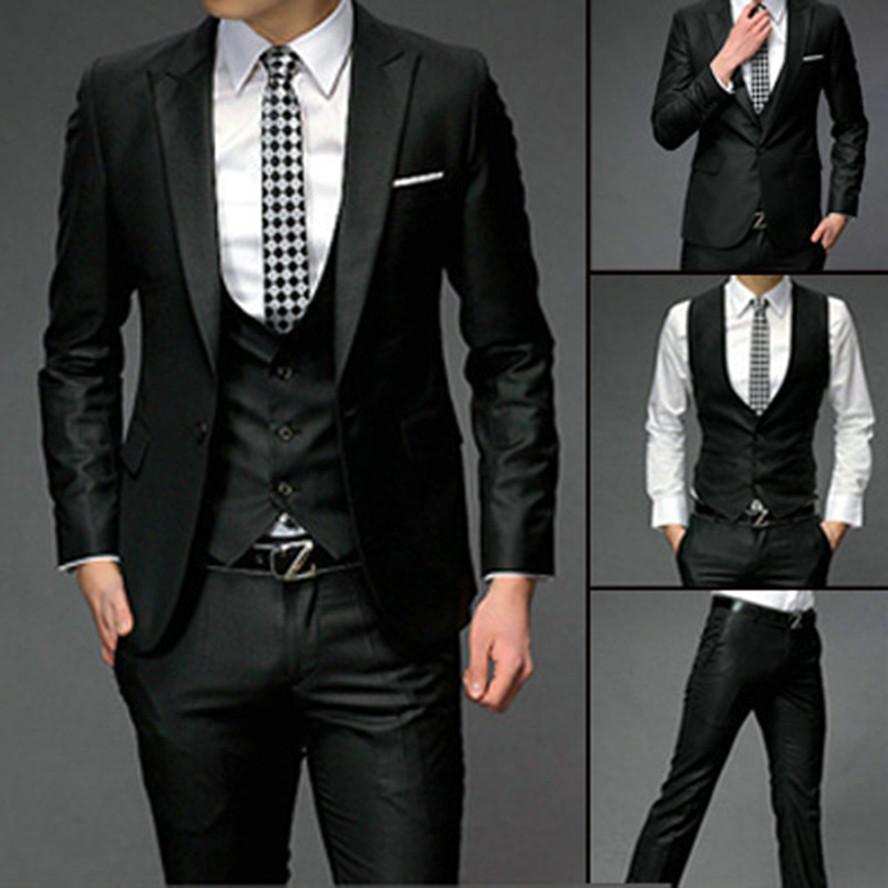 2020 NUOVO smoking dello sposo di nozze Groomsman uomini dimagriscono tasto di misura un'Abiti Pants Vest L'abito dello sposo (Jacket + Pants + Tie + Vest) 790