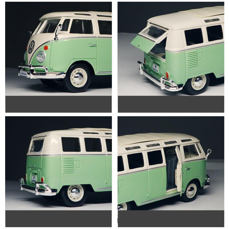 مايستو فولكس واجن VAN سامبا سبيكة نموذج محاكاة الديكور سيارة هدية لعبة جمع