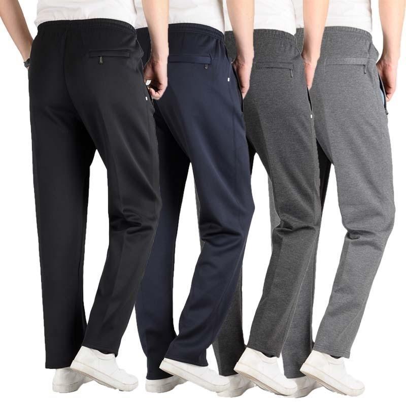 Spring Automne Hommes Pantalon décontracté Pantalon de survêtement dessert Hommes Pantalons de base Tracksuit Bottoms Sportswear Business Straight Pantalons Y200114