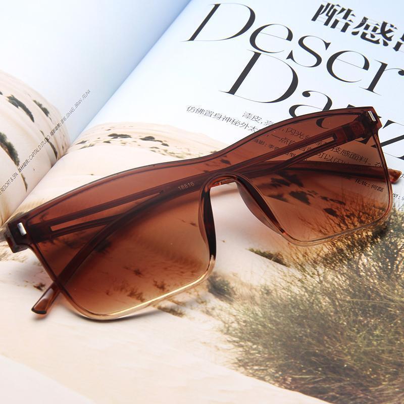 Lunettes de soleil The Mode Dazzle Couleur Lens Marine Lumineux Fin Confortable Dames Rétro-mi Ding Sunglasses Siamois1