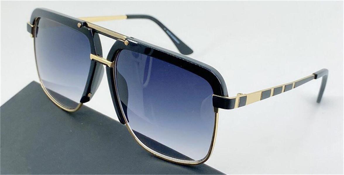 Nuovi uomini popolari Design tedesco Occhiali da sole 9086 Metallo Pilota Retro Telaio Occhiali da sole Moda Stile semplice Design Stile con custodia per occhiali