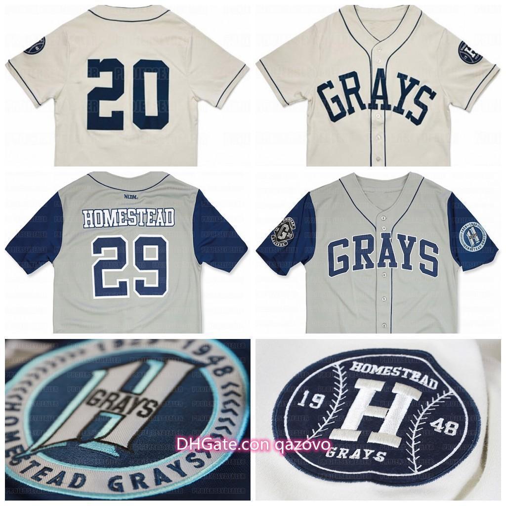 Ncaa büyük çocuk büyük çocuk homesteadGrays Özel NLBM Negro Leagues Beyzbol Jersey Stichedİsim çizgiliHızlı Nakliye Numarası