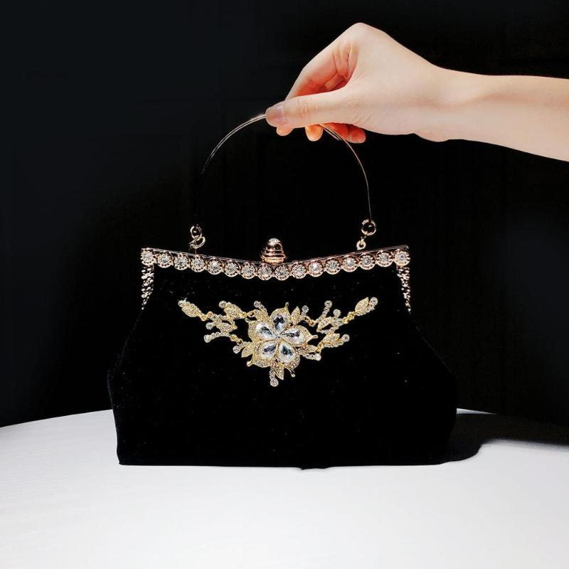 2020 Banketthandtasche weibliche neue cheongsam chinesische stil tasche abendessen tasche braut hochzeit rot kupplung gold abend mcnfh