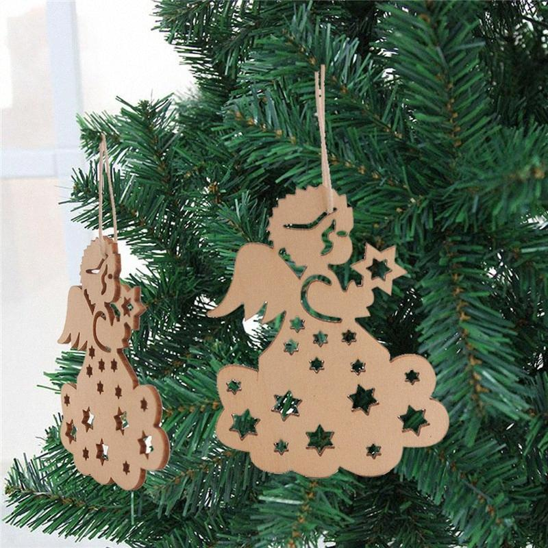 Christmas Pendants With Burlap Ropes Unfinished Wooden Slices Crafts Hanging Ornaments For Xmas Bar Shop Decor / Christmas Table Decor jfcu#