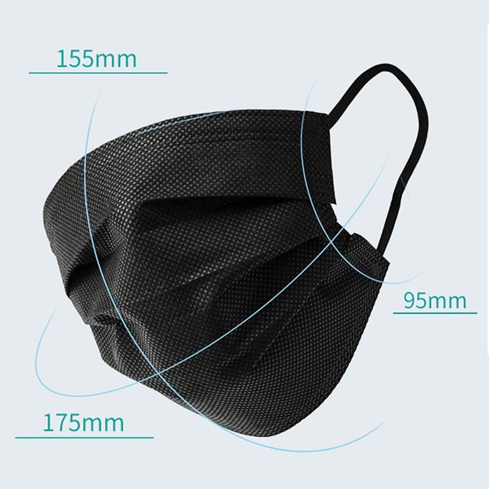 Máscara de cara negra Desechable No tejido de 3 capas Máscara de filtro Mascarilla Mascarilla Anti polvo Protección transpirable Tarraops Máscaras Máscaras Fast Barco