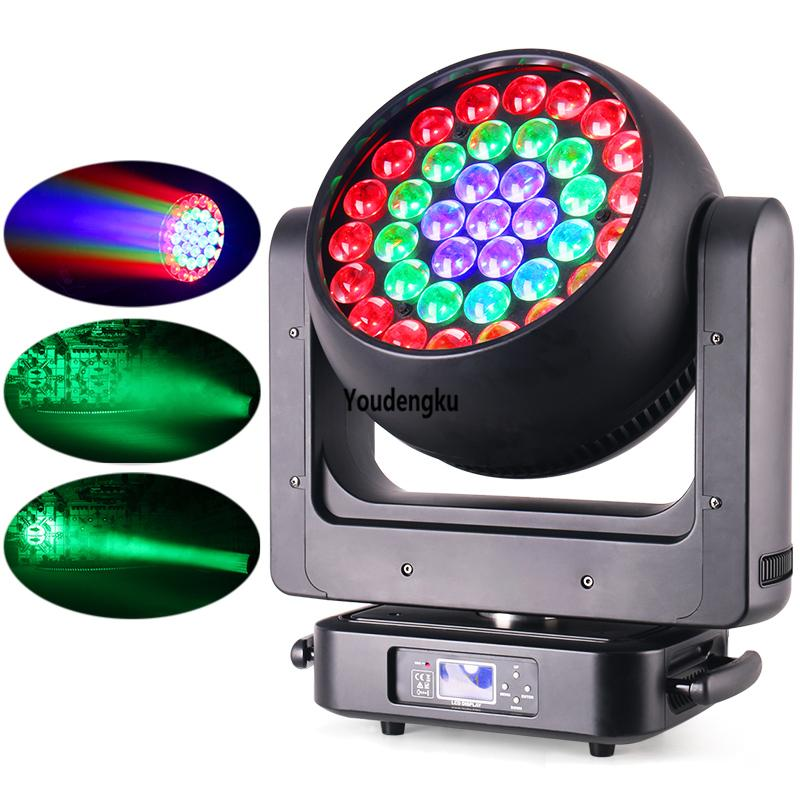 led moving head zoom 37x20w rgbw 4in1 dmx night club stage moving head wash zoom led light