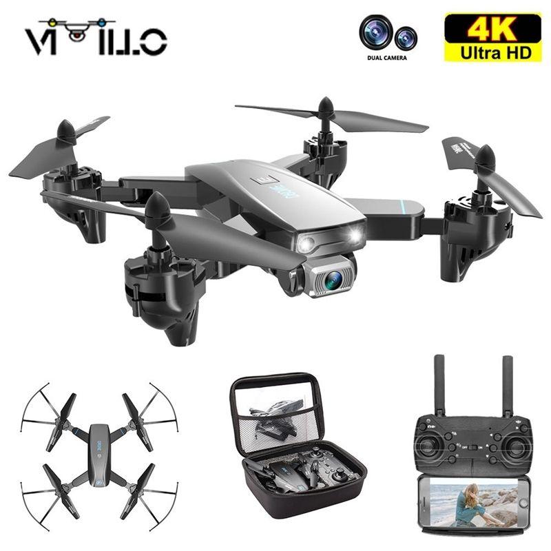 Vimillo S173 Mini Drohne mit 4k HD Dual Camera RC Quadcopter WiFi FPV GuFensional Drohnen Con Copter Spielzeug Geschenk VS S167 SG107 201221