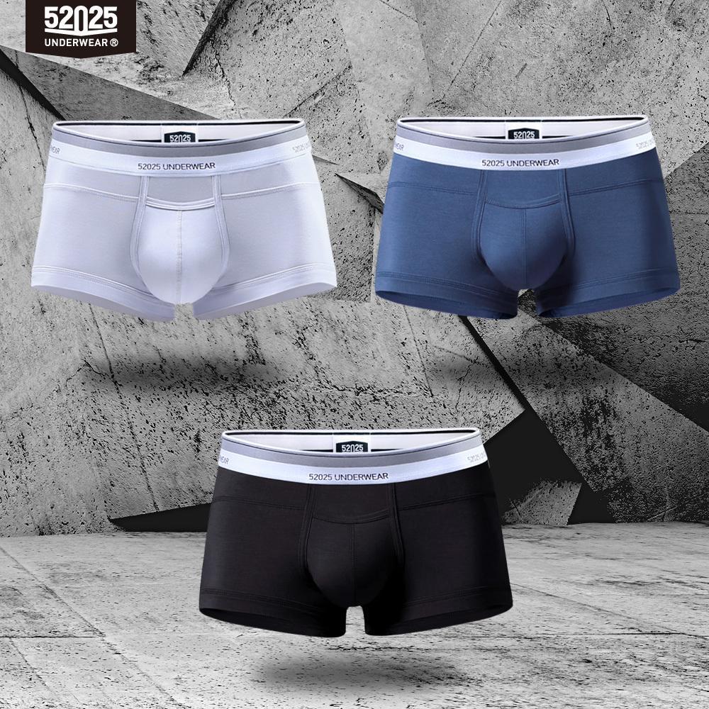 52025 hombres ropa interior troncos 3-pack micro modal mosca vuela sexy masculino calzoncillos suave transpirable troncos sólidos u-convexos boxers y200115