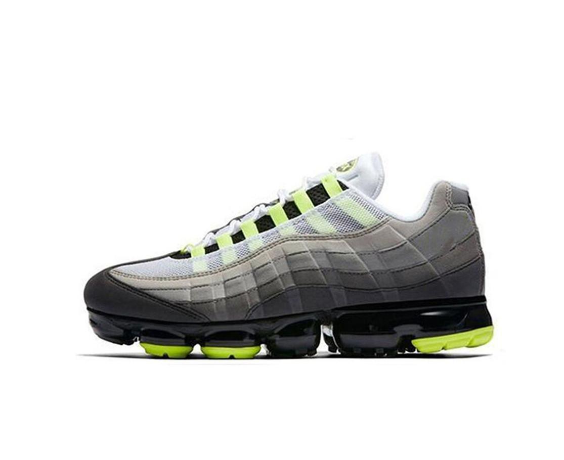 95 lux d'argent blanc GS Chaussures originales pour hommes Sports en plein air Jogging Sneaker confortable D25