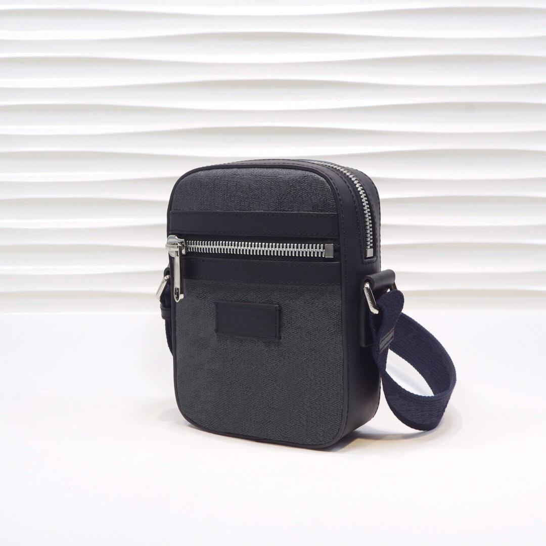 Toile de luxe Mini de luxe avec noir / gris 08 avec sac à bandoulière en cuir Sac à bandoulière Habbody Sacs Sacs Designers Sac à main Boîte à main Messeng PBJPX