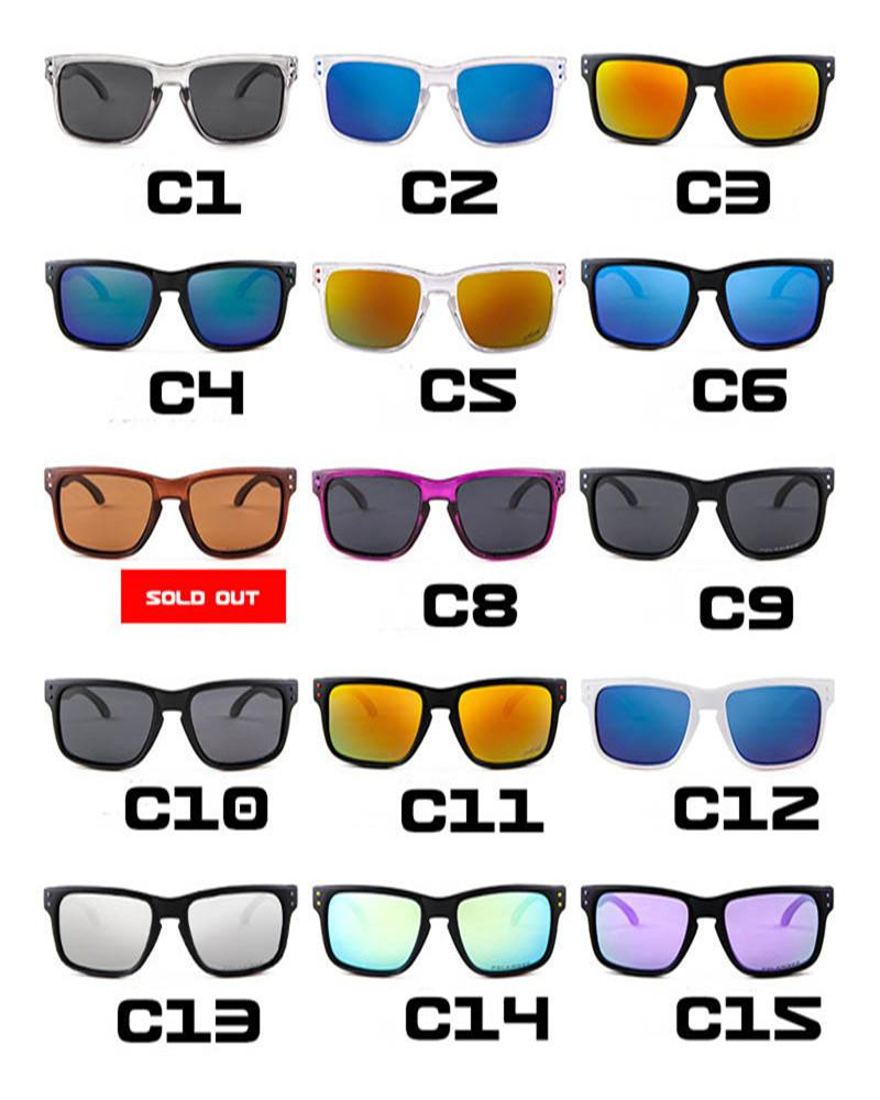 Erkekler Kadınlar Spor Polarize Güneş Gözlükleri Marka Tasarımcısı Gözlük 14 Renkler Moda Bisiklet Güneş Gözlüğü Erkek Güneş Gözlüğü