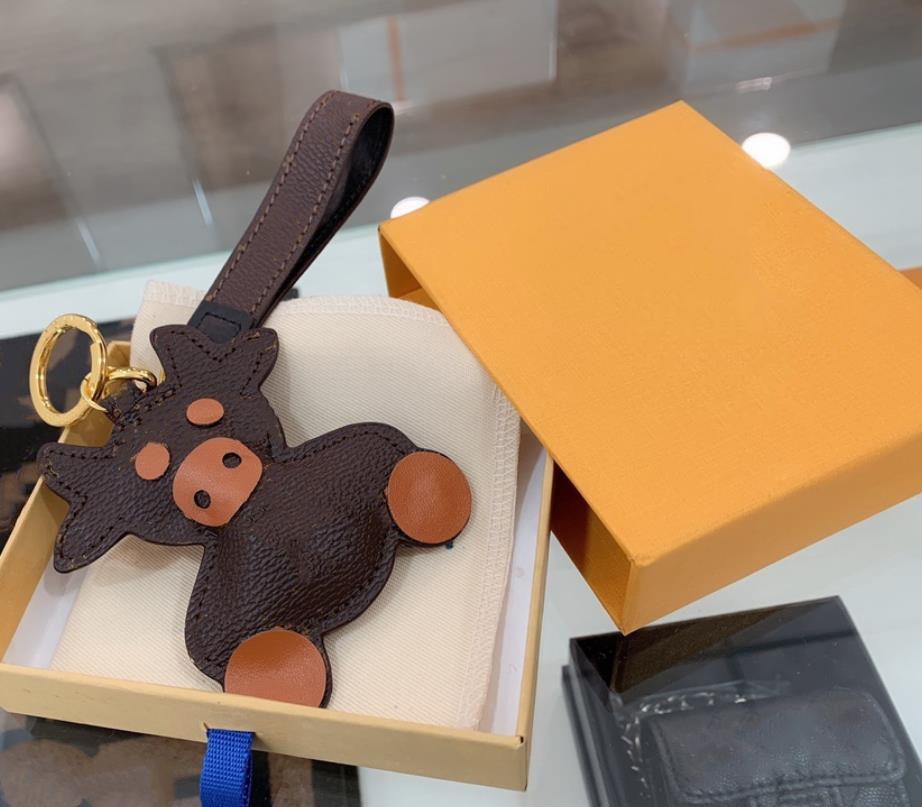 Stierform Tasche Reißverschluss Schnalle Männer Frauen Tasche Anhänger Zubehör Mode Schlüssel Schnalle Auto Keychain Handgemachte Leder Schlüsselanhänger 2 Farbe