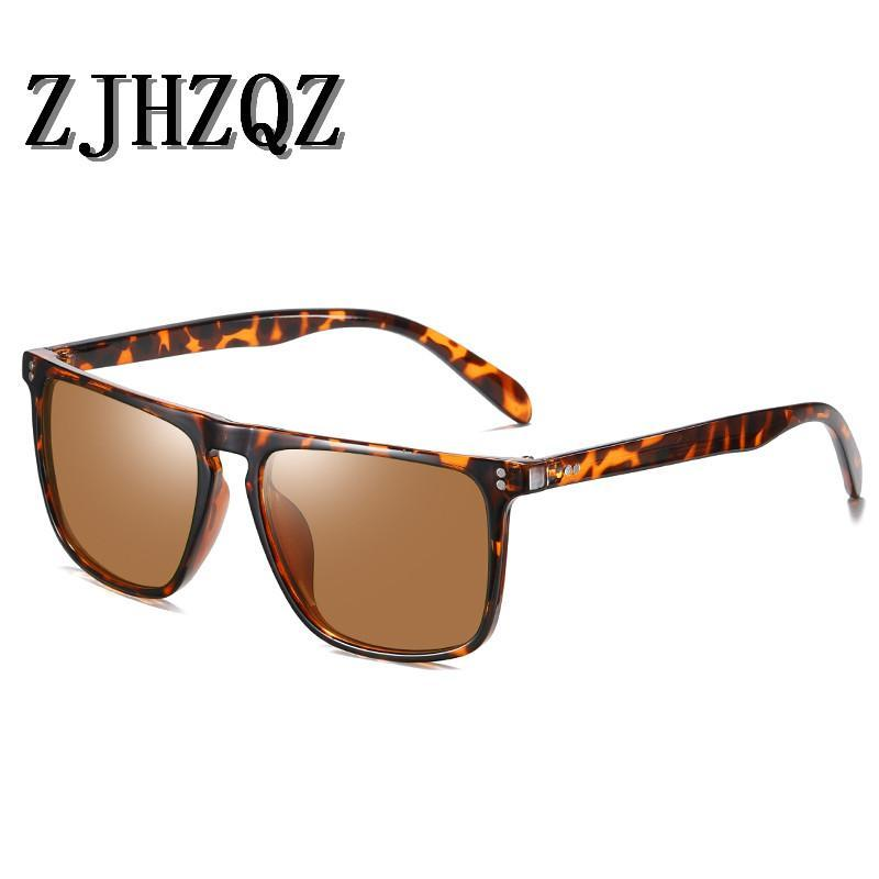 Brand Zjhzqz Unisex Lady Alluminio + TR90 Occhiali da sole polarizzati TR90 Occhiali da sole femminili Eyewear Elegante occhiali da sole Occhiali da sole Vintage Retro guida KJHQQ