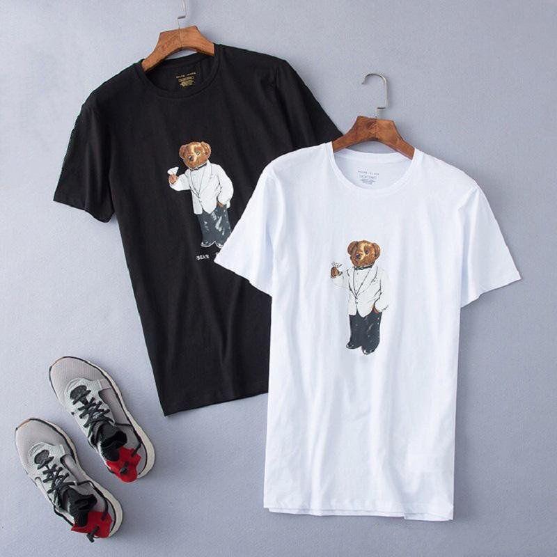US Manga Curta Hóquei UE UK Size Martini Capitão Capitão Pólo Tamanho Polo Urso Homens T-shirt das Mulheres