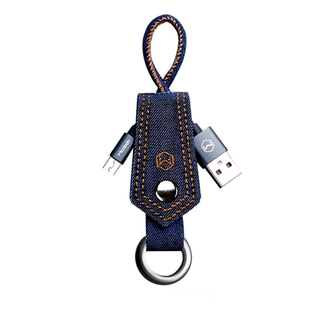Mcdodo CA-3030 Premium Série 02m 24A réversible Micro USB vers USB Denim Couverture TPE Jacket Sync Câble de charge pour Samsung Sony HTC H