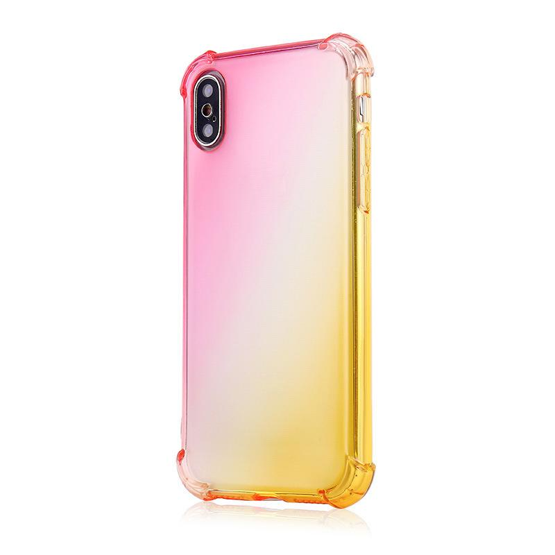 Grandient TPU Case New Phone Cases Gradient Colors Anti Shock Airbag Clear Cases For iPhone 12 Mini 11 Pro Max XS 8 7Plus 6S Free Shipping