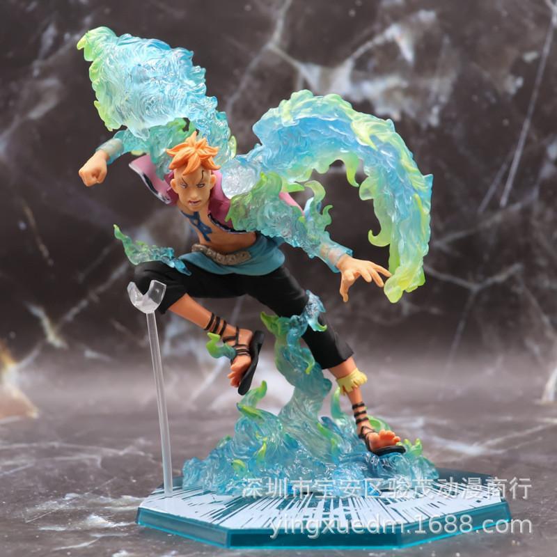 Anime Tek Parça Mücadele Phoenix Marco PVC 19 CM Action Figure Oyuncak Heykeli Modeli Heykelcik Çocuk Hediye Bebek Tahsil 1008