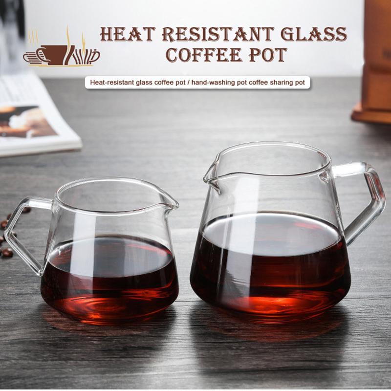 400ML-600ML verre Café Partage Pot Café Serveur Pour Out Decanter Accueil Brewing Cup Hand Made Coffee Maker Ice Drip bouilloire # 2