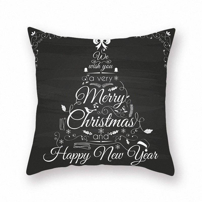 Alce Negro almohada del amortiguador de la cubierta de asiento 45 * 45cm del amortiguador del sofá Inicio Car House Square Caso decorativo Almohada cubierta XS 19XMAS7 SMPN #