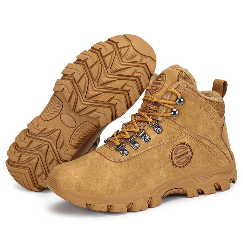 Inverno Fur Uomini Safty esterno militare neve Army Stivaletti pattini caldi casual Appartamenti zapatos de hombre 201027