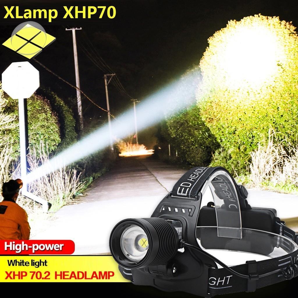 lámpara de enfoque recargable Xhp70 fase a fase llevado 18650 llevó