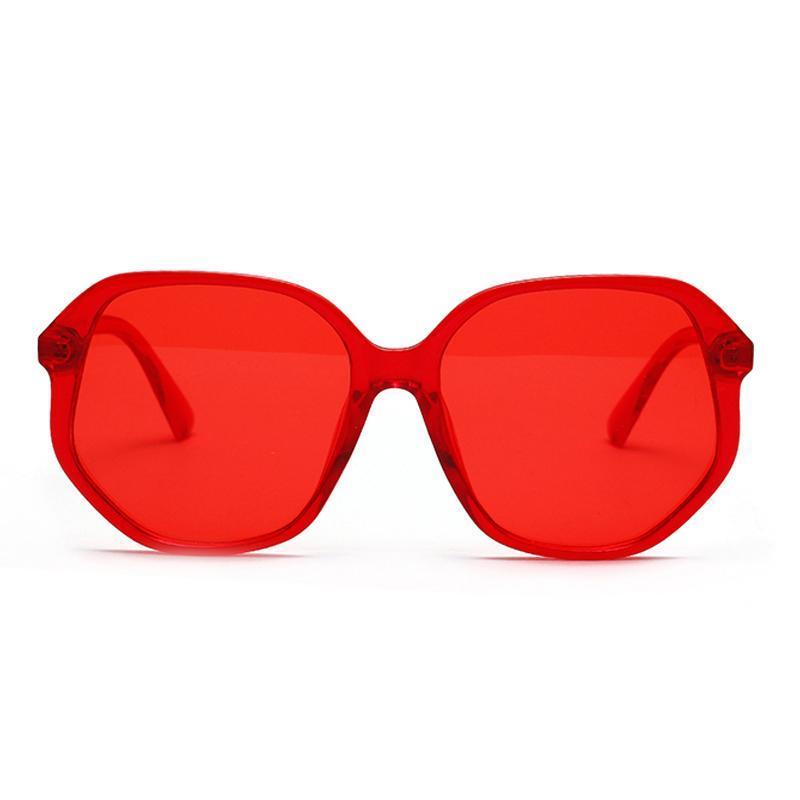 Renkler Suqare Güneş Gözlüğü Kadınlar 2020 Gözlük Güneş Poligon Gözlük Yeni Koruma Kırmızı UV400 Yeni Hediye UV Bayanlar Şeker Turizm Lhvbn