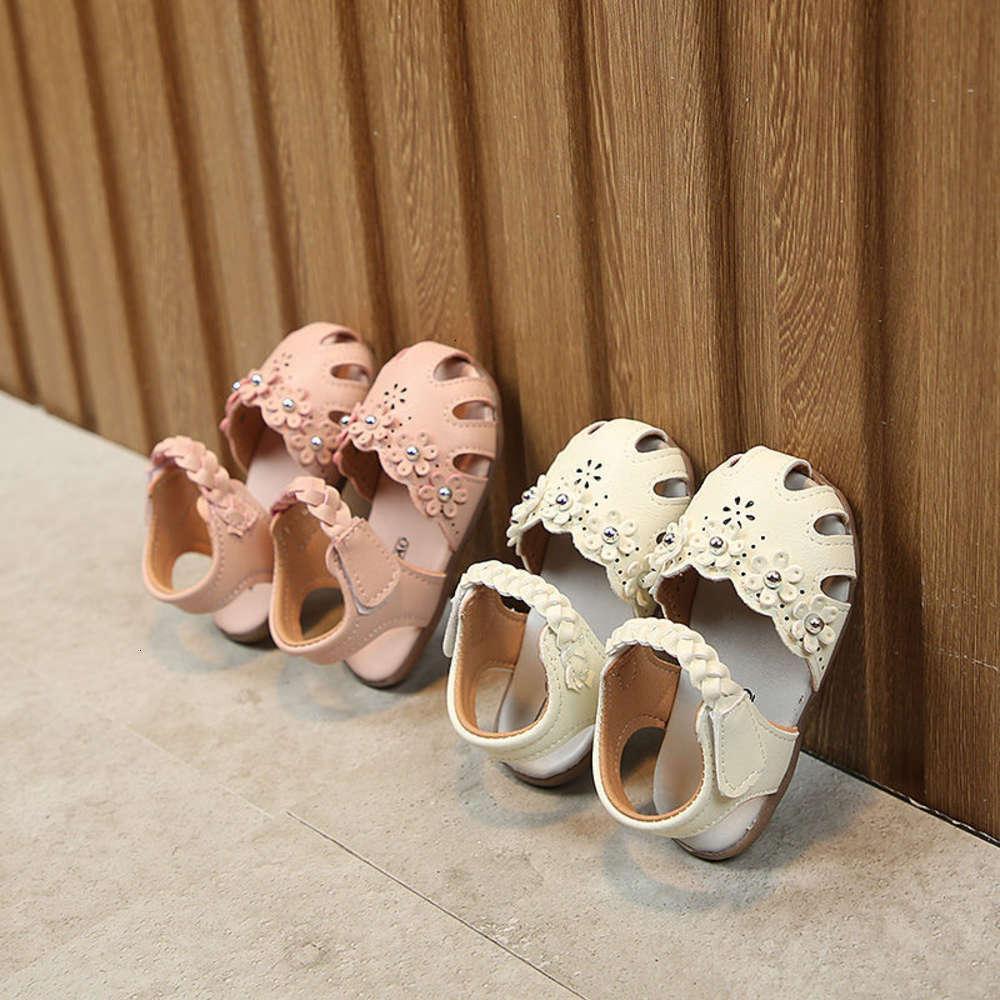 Нижний Детские сандалии Новый Baotou не скользные мягкие девочки корейские детские ходьбы принсы шо