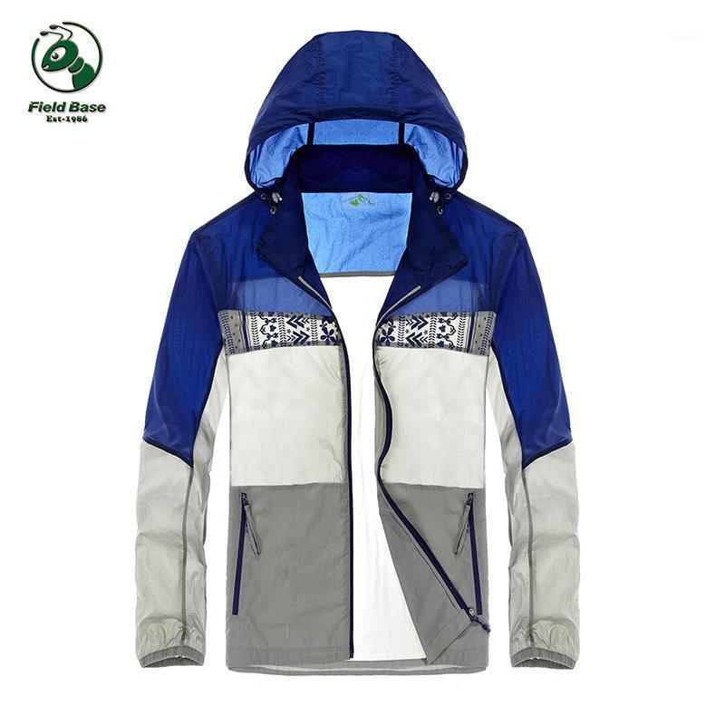 Veste Hommes Protection anti-UV Uldtralight UldTraLight Windrothin Waterproof Windbreaker Sunblock Jacket Manteau 3Colors Field Base1