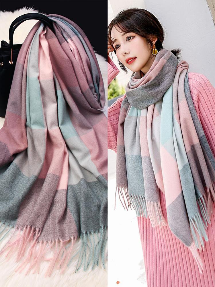 Schal Frauen Herbst Winter koreanische Version vielseitig Frühling dünne schöne Mädchen Studenten ins Mode warmen Schal doppelten Zweck Bib