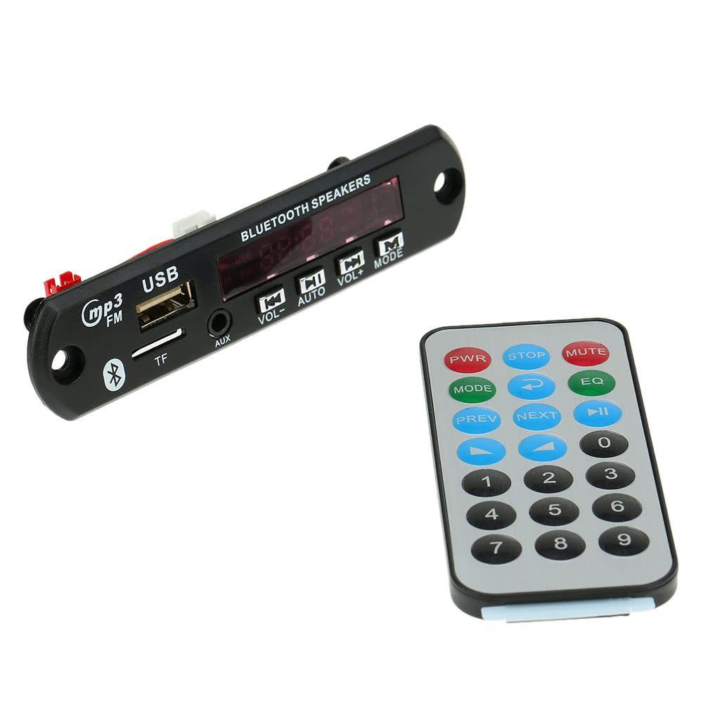 Sans fil Bluetooth MP3 WMA Decoder Board Module Radio FM Autoradio avec Aux Port TF carte USB sous contrôle à distance
