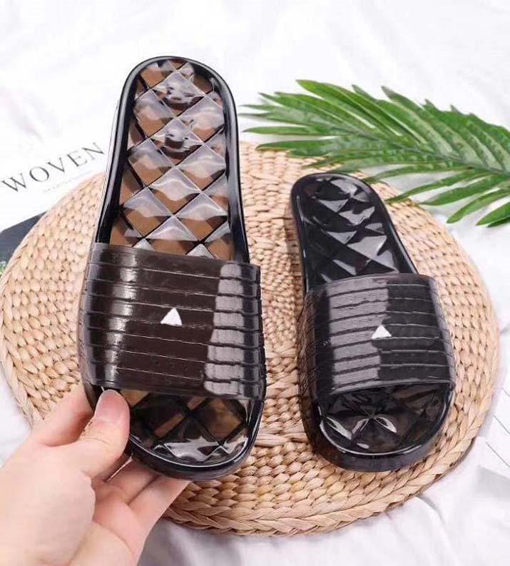Sandálias de Marca de Luxo Sandálias Deslizadores Deslizadores Florais Brocade Genuine Leather Flip Flops Homens Mulheres Sanal por Home011 01