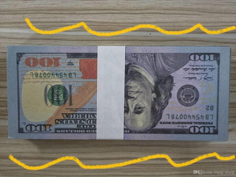 Billet chaud Faux US vending Old Best Dollar Trade Jetons Nouveaux enfants Copier cadeau 100 Billets de banque de l'argent 20 NRHPK
