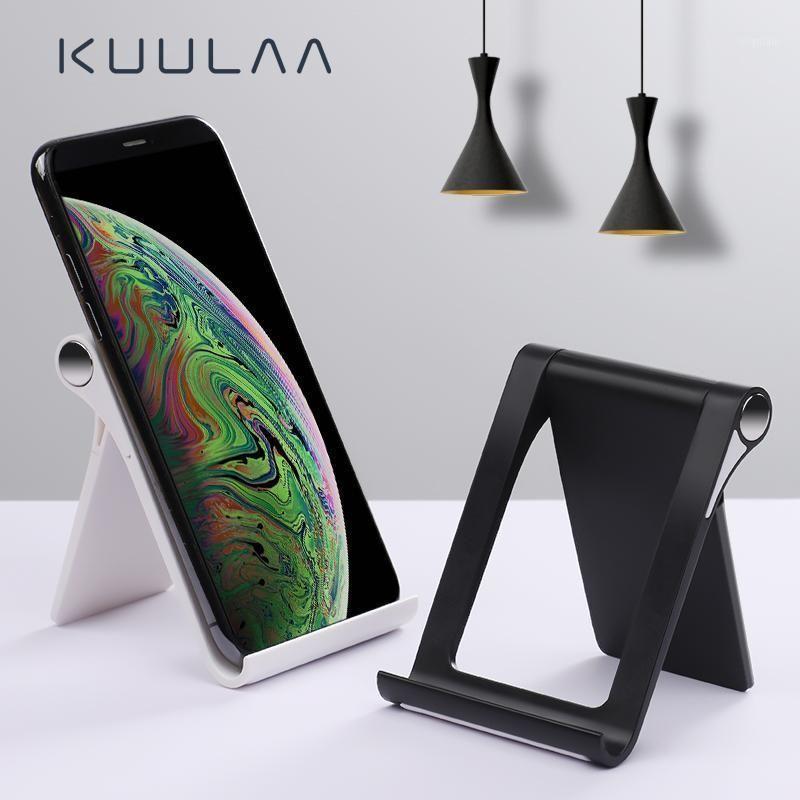 Titulares de suporte de telefone celular Kuulaa suporte de suporte móvel Universal dobrável para 11 pro Max mesa tablet for1
