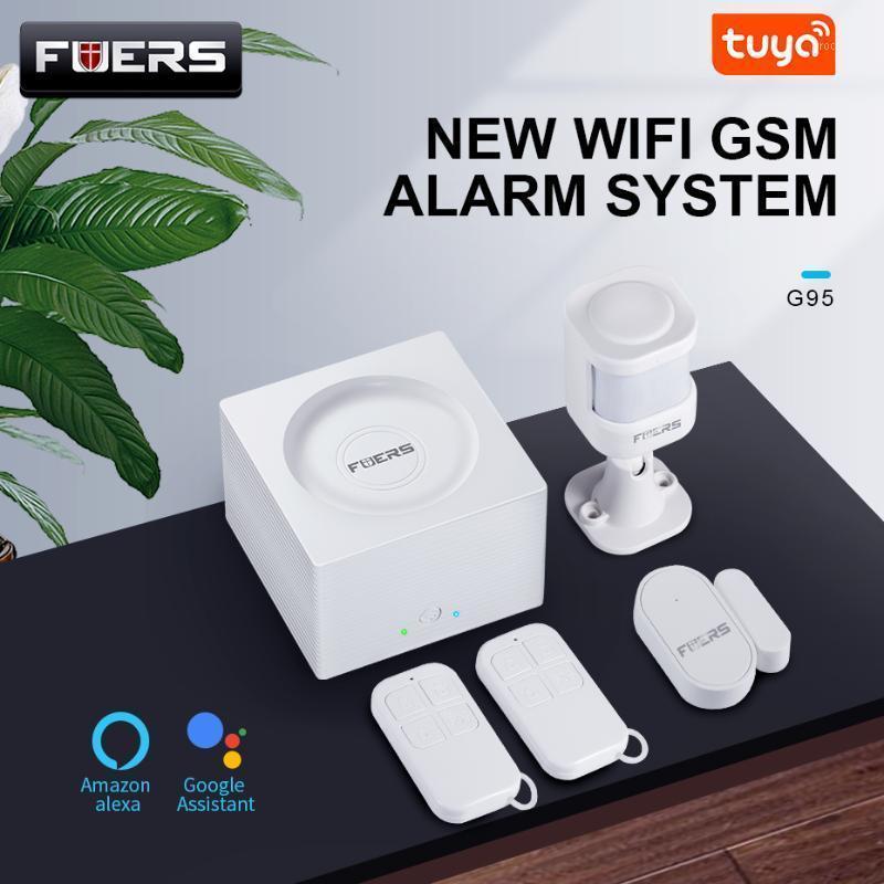 Sistemas de alarme G95 WiFi GSM Security Tuya Alexa App Câmera Toque no teclado Smart Home Assaltante Security1