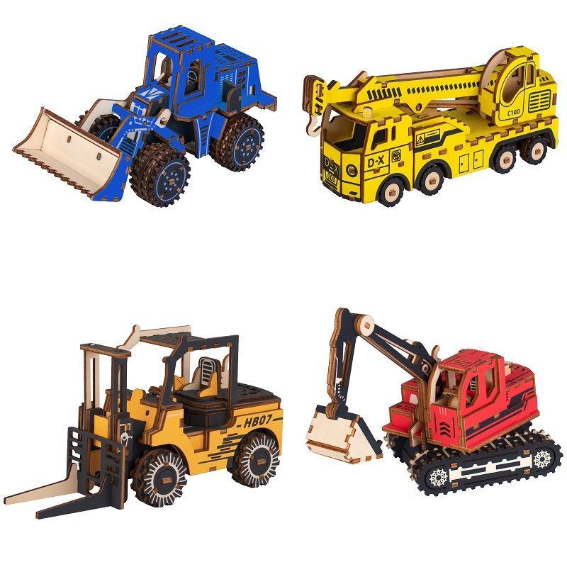 자동차 DIY 3 차원 퍼즐 모델 나무 교육 장난감 모델 구축 키트 교육, 취미, 선물 엔지니어링 차량