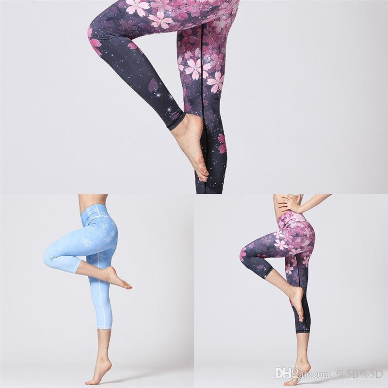 2fo7 sport pantalon femme pantalon de yoga féminin mode numérique écran imprimé couture Leggings Sports Capri pour femme Yoga Pantalons Leggins