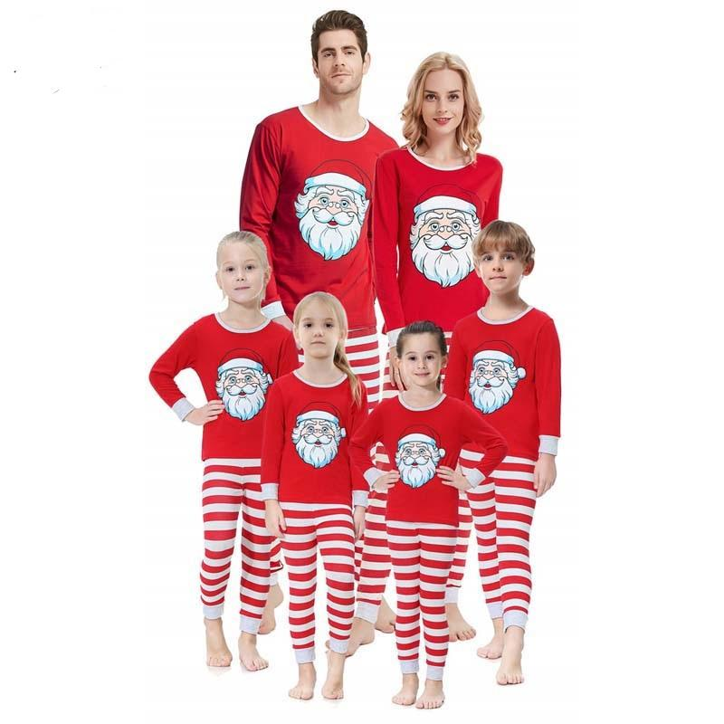 أمي أبي كيد 2020 عيد الميلاد نوم عائلية نظرة سانتا ملابس للنوم الأم والبيانات البيجامة الأسرة الملابس مطابقة