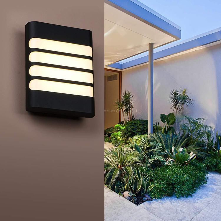 야외 벽 빛 방수 IP65 LED 발코니 램프 뒷마당 복도에 대 한 현대 가정 장식 실내 플라스틱 BDF-20