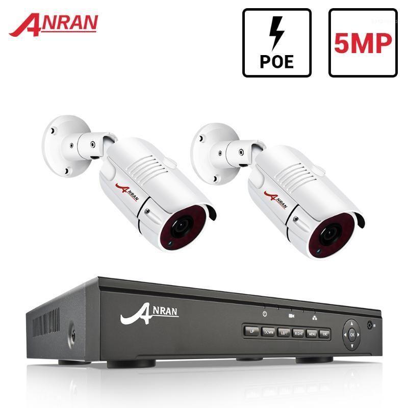 ANRAN 5MP فيديو مراقبة كيت كاميرا مراقبة فيديو في الهواء الطلق كاميرا CCTV 2ch نظام الأمن كيت نظام CCTV للمنزل App1