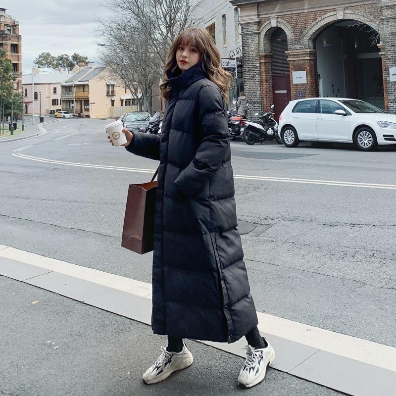 Длинная зимняя куртка Parka Hem Extra Maxi X-Long Женщин пальто Большой размер плюс женский пальто одежды для одежды верхняя одежда из хлопковой одежды