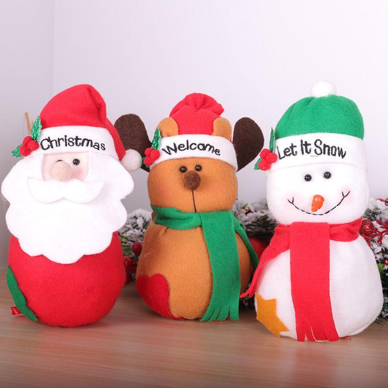 2020 Рождество Apple, сумка Candy Bag Bottom кулиской Мультфильм Ткань Рождественский подарок сумка Новогоднее украшение Dropshipping F8601