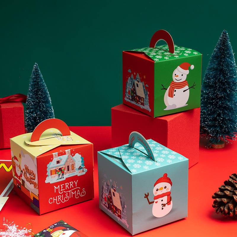 Merry Christmas Apple Box Natale Eva Packaging Boxes Fata Design Papercard Papercard Regalo di Natale Contenitore Frutta Bambino creativo Bambino all'ingrosso nave libera