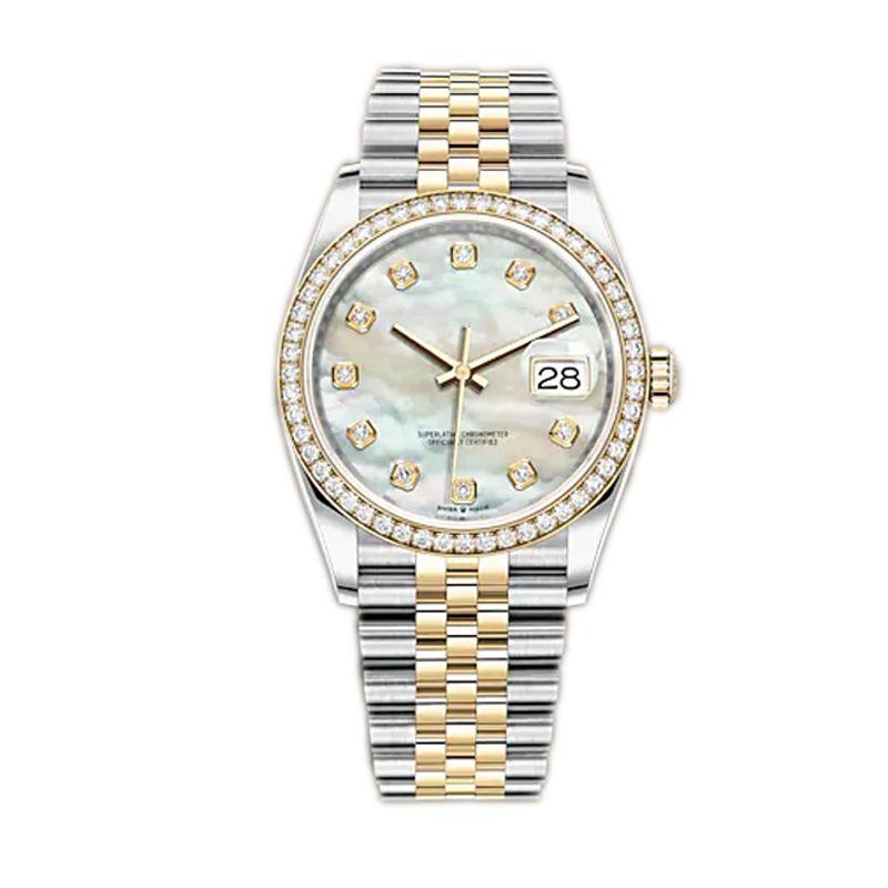 Caijiamin-U1 U1 Uomo Automatico orologio meccanico orologio diamante orologi da polso in acciaio inox 36mm orologio da polso Super luminose signora donna orologi