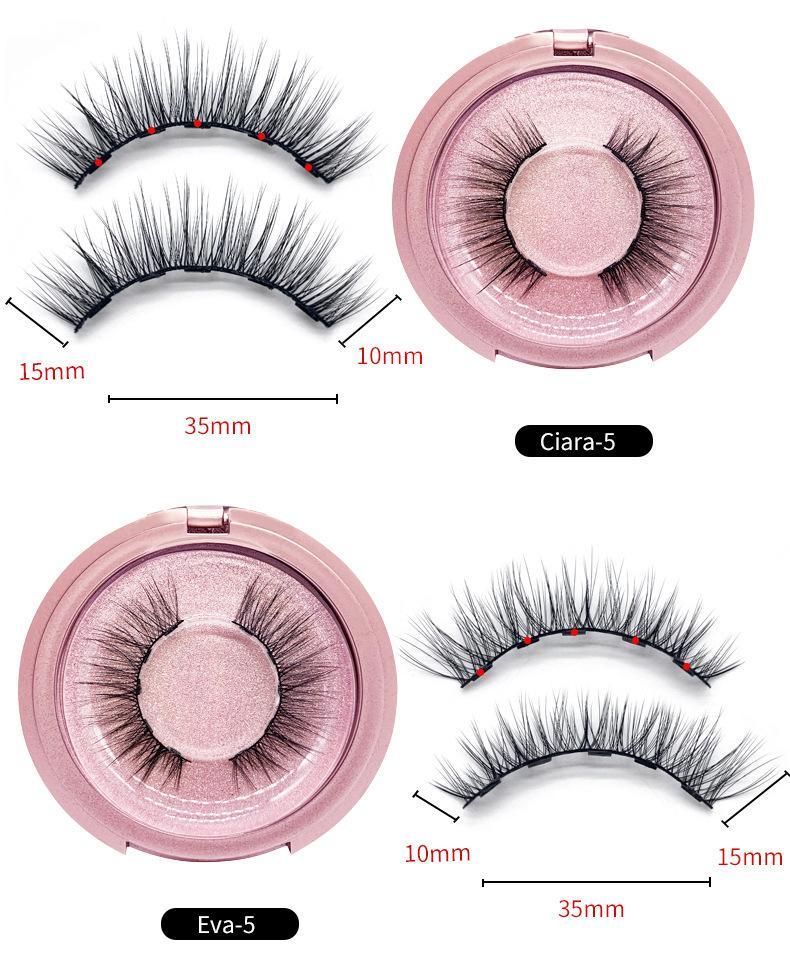 Kein Klebstoff magnetische Wimpern Langlebige wiederverwendbare Augen Liner Verlängerung Komfortable Eyeliner Fünf-teiliges Make-up Set Makeup 100 Echt Nerz Wimpern