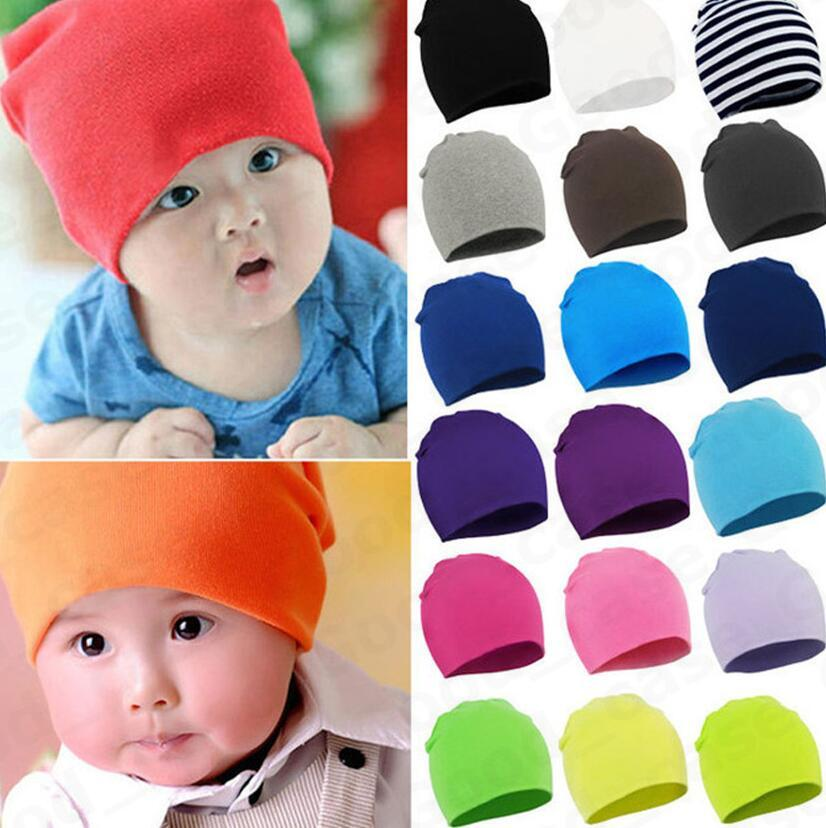 Toddler Newborn Baby Hats Winter Warm Knit Hat Kids Boys Girls Candy Color Knitting Hats Infant Earmuffs Beanies Caps Skull Hats New F101301
