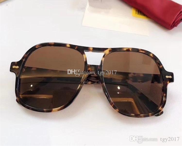 2020 più nuovi occhiali da sole pilota quadrato unisex UV400 59-20-145mm importato Pure-Plank Euro-Am Stella-Style Style Pielset Imballaggio Freeshipping Freeshipping